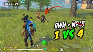 AWM Solo vs Squad i meet Free Fire Couple Gameplay - Garena Free Fire