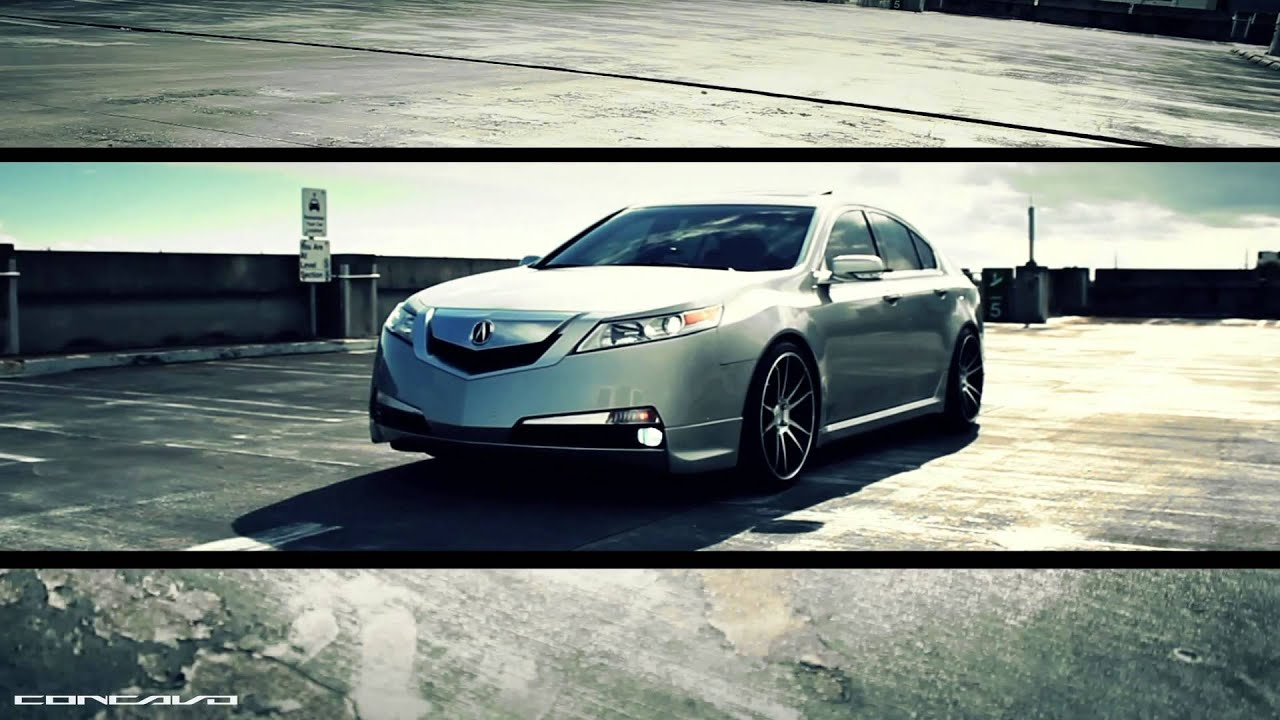 "acura tl on 20"" concavo cw s5 concave wheels rims lowered"