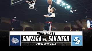 No. 1 Gonzaga vs. San Diego Basketball Highlights (2019-20) | Stadium