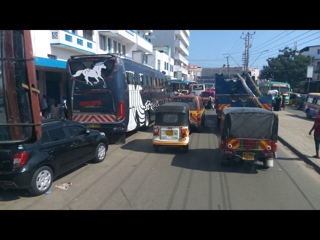 Heading To Mombasa Town From Portreiz Bus Yard