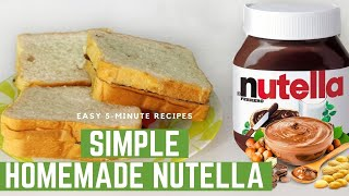 Homemade Nutella with Peanuts …