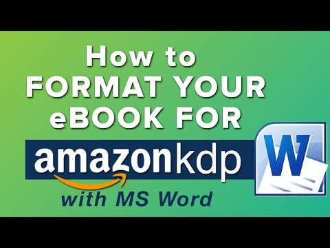 How to Correctly Format an eBook for Amazon KDP with Microsoft Word - The Basics