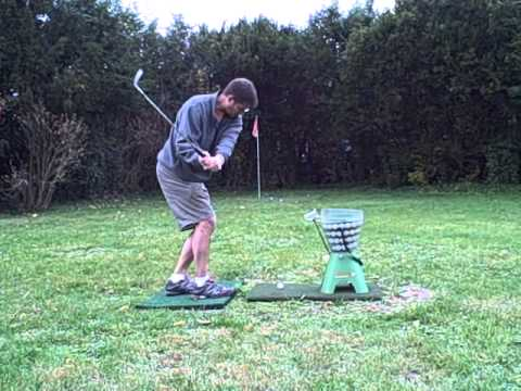 Backyard Driving Range back yard golf practice range - youtube