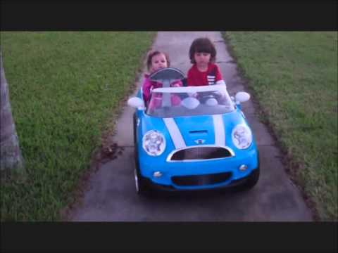 12v Mini Cooper Electric Ride On Car Driving Sis Around Youtube