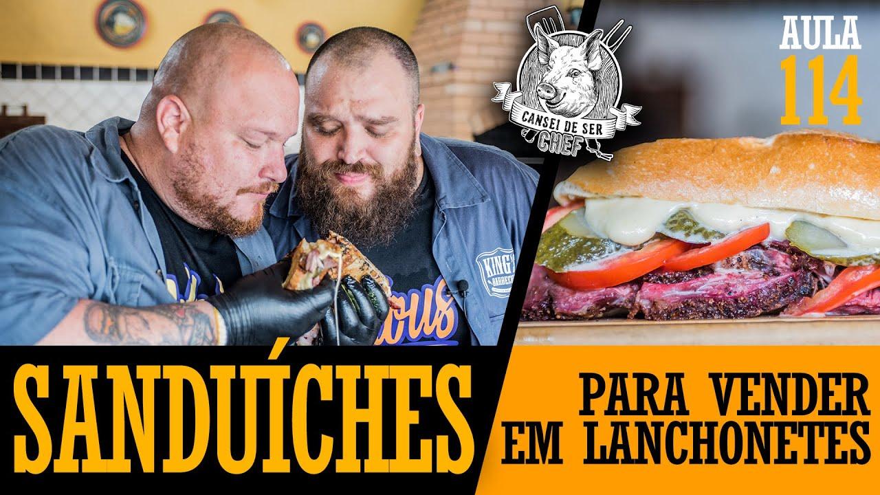 Sanduíche p/ Lanchonetes (Como fazer queijo quente, cubano e bauru) / Cansei de Ser Chef