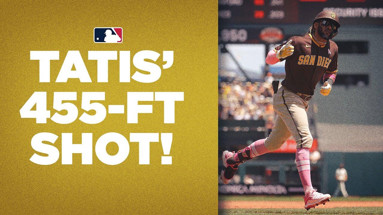 DEEP SHOT from Fernando! Tatís Jr. smashes 455-FOOT shot for Padres vs. Giants!