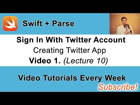 Twitter Sign in Button with Parse and Swift. Video 1.