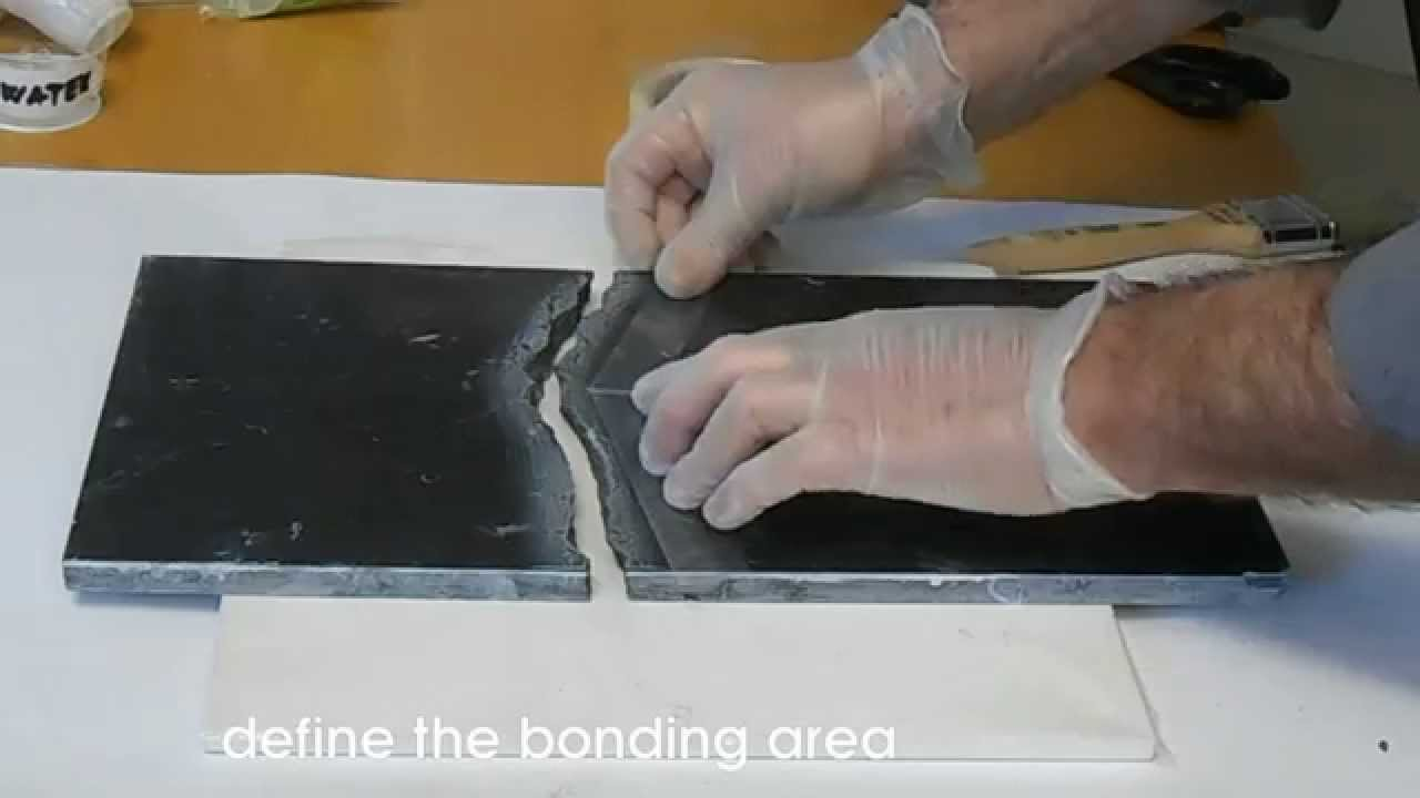How To Patch And Polishing Black Broken Marble Youtube