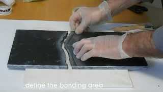 How to patch and polishing black broken marble