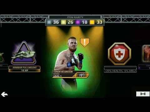 Opening  Conor McGregor H2H Rank #1  In Ufc Mobile!! UFC MOBILE.