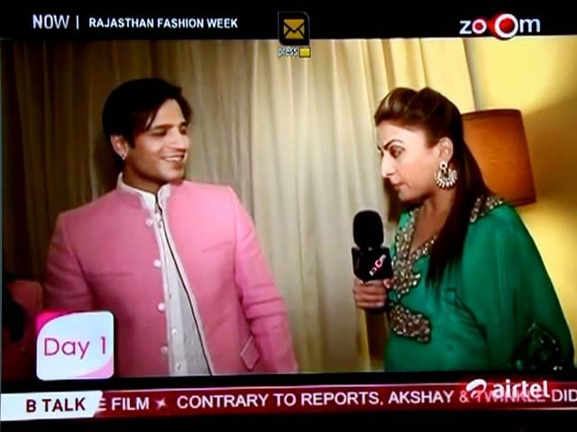 On ZOOM TV Vivek Oberoi walks the ramp for Kirti Rathore as showstopper at Rajasthan Fashion Week
