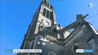 #Séisme France Vendée/Deux Sèvres données SISFRANCE, Magnitude 4,8  12 02 2018