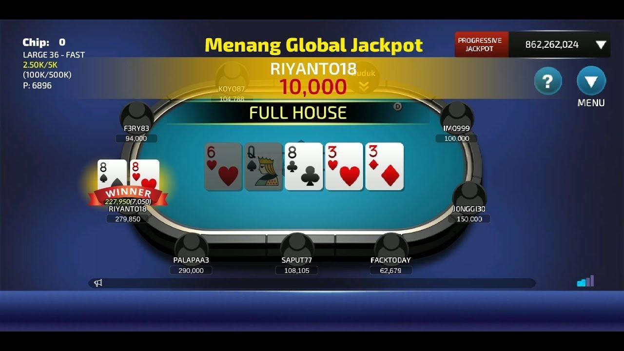 Jackpot Full House Dewa Poker Youtube