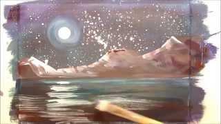 Картина за 4 минуты: Луна. Ночь. Горы(Как нарисовать ночной сюжет гуашью. Материалы, которые нужны для рисования этой картины: - гуашь, - кисти,..., 2014-12-22T15:40:15.000Z)