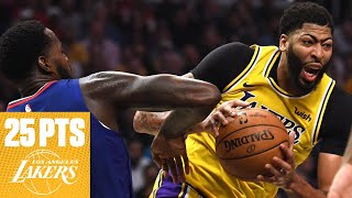 Anthony Davis: 25 points, 10 rebounds in Lakers debut | 2019 NBA Highlights