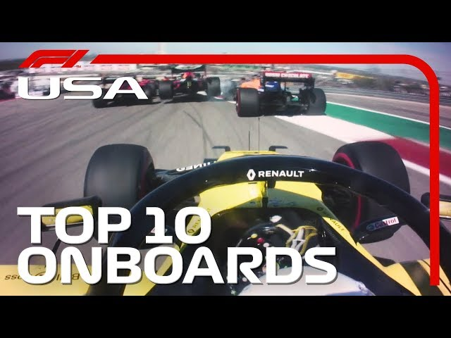 Daring Overtakes, Stunning Speed And The Top 10 Onboards | 2019 United States Grand Prix