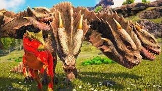 Cheguei a Tempo Para Salvar Uma Fêmea Hydra Das Garras Dos Allosaurus! Ark Survival Evolved (PT/BR)