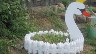 Creative Garden Craft Decoration from Recycled Waste Material - Reuse for Gardening