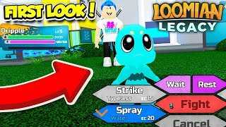 FIRST LOOK AT LOOMIAN LEGACY GAMEPLAY!! *Pokemon Brick Bronze* (Roblox)