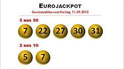 Eurojackpot News: Eurolotto Gewinnzahlen der Ziehung vom 11.09.2015