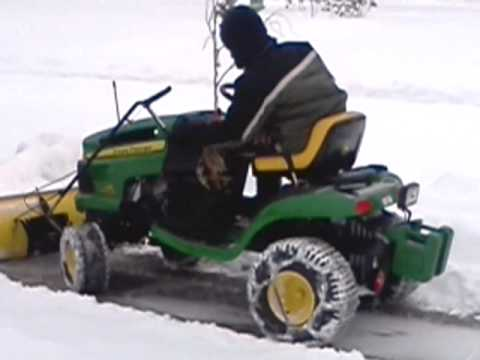 snow plowing with john deere 125 auto youtube. Black Bedroom Furniture Sets. Home Design Ideas