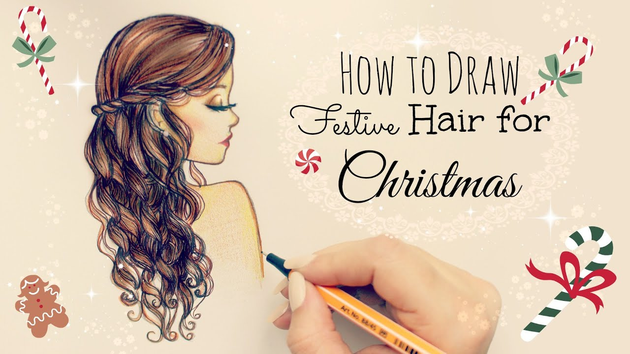 Drawing Tutorial How To Draw And Color Festive Hair For - Barbie hair style drawing