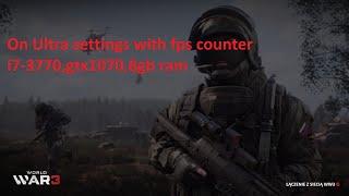 World War 3 ultra settings with fps counter ,i7-3770,gtx1070,8gb ram(PC)[HD]