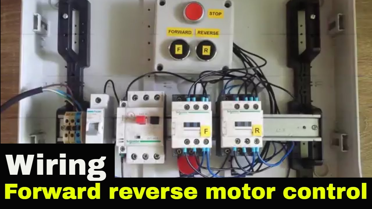 How to wire Forward Reverse motor control  YouTube