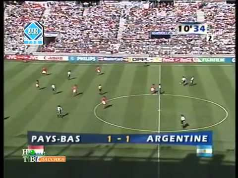 Mundial 1998 Holanda 2 x 1 Argentina