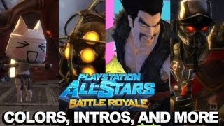 PlayStation All-Stars Battle Royale - Colors, Intros, Outros and More