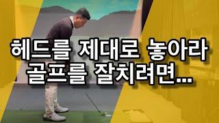 어드레스시 헤드를 잘 놓아야 골프가 쉬워진다