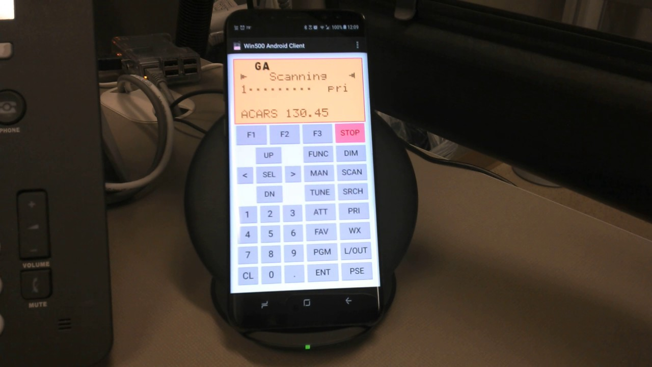 WIN500 Android app remote to trunked scanner