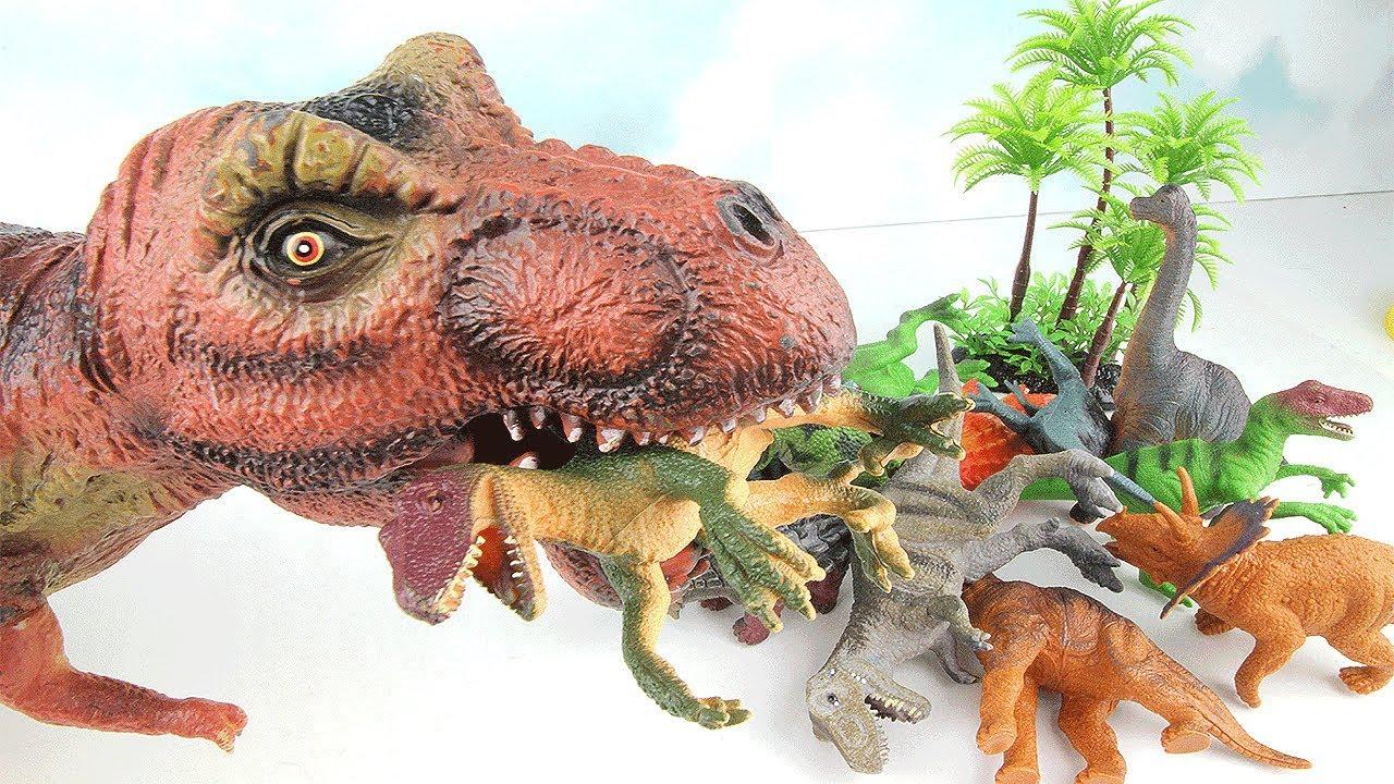 T-Rex Eat Dinosaurs~ Dinosaur Toys For Kids! Big Giant ...