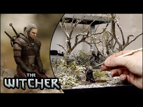 The Witcher - Creating AN ULTRA REALISTIC Miniature Diorama