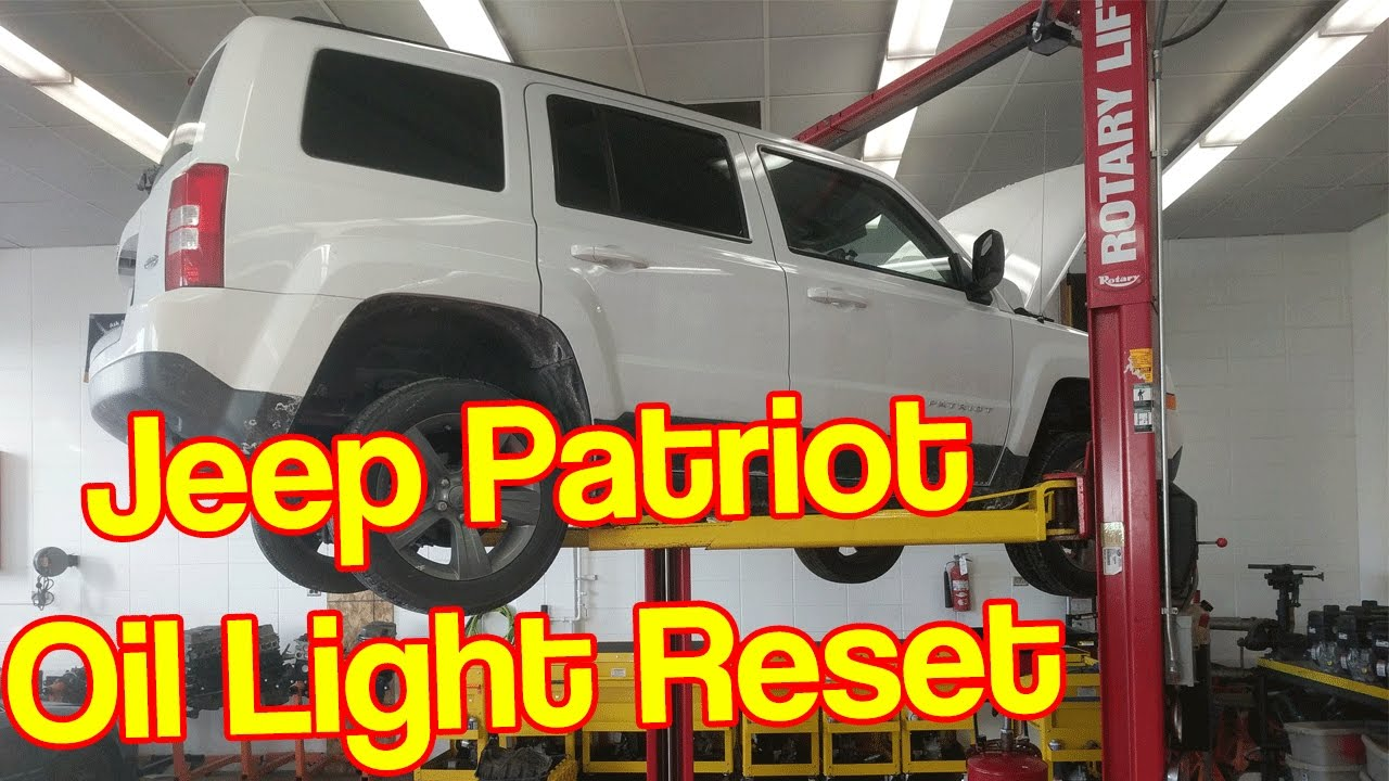 Jeep Patriot Oil Change Reset Oil Life Reset YouTube