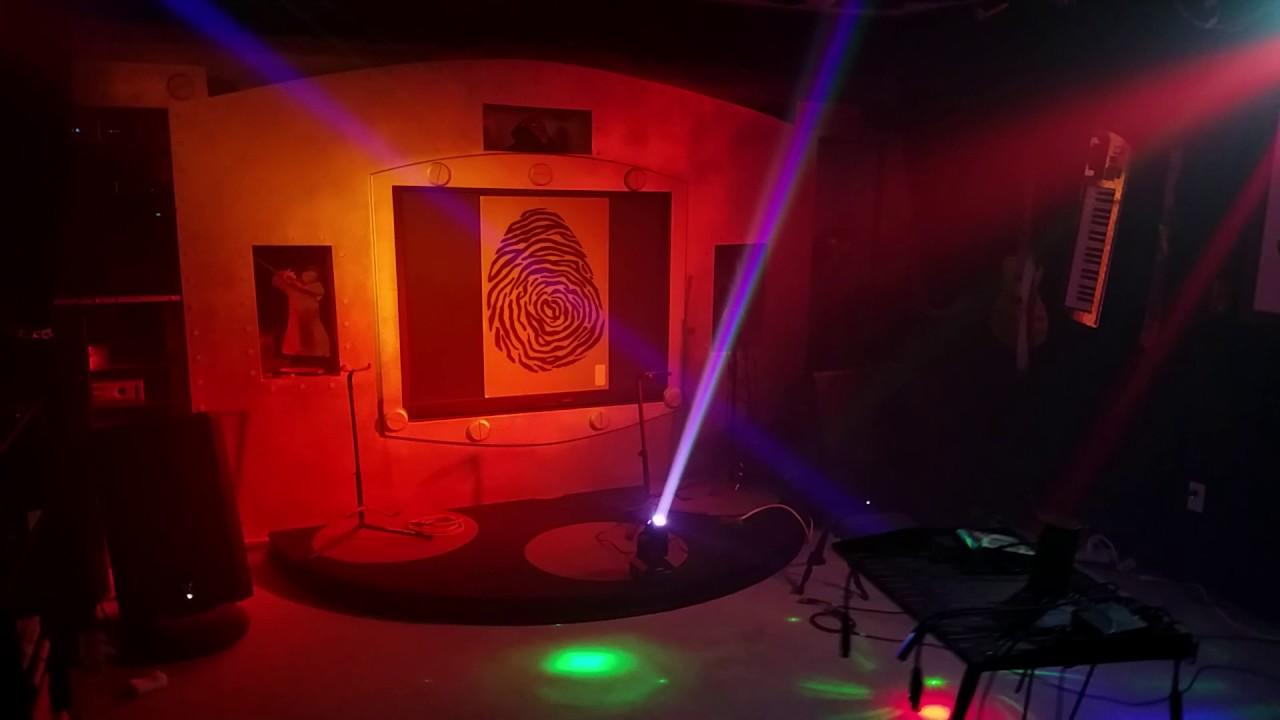 Testing Stage Lighting with DIY Haze Machine.