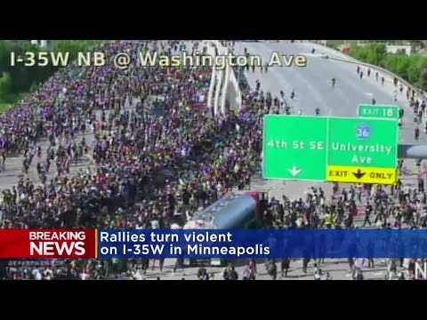 VIDEO: Tanker truck appears to drive into Minneapolis protest crowd