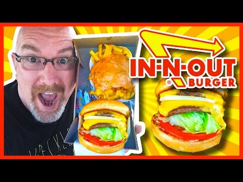 In-N-Out Double Double Burger, Animal Style Fries & Chocolate Milkshake Review | KBDProductionsTV