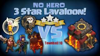 CLASH OF CLANS | TH10 AIR ATTACK STRATEGY | GOBOLALOON | NO HERO