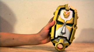 Power Rangers Megaforce Morpher review with hand-drawn cards