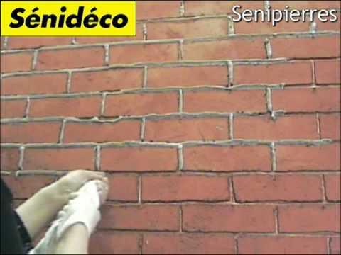 Un nouveau produit s nid co s nipierres finition briques - Peindre un mur en rouge ...
