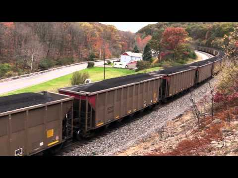 CSX Coal Train Grinding Up Sandpatch Grade With Helpers