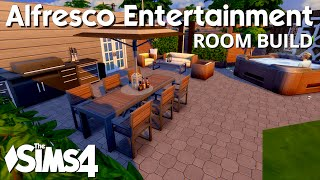 The Sims 4 Room Build - Alfresco Entertainment