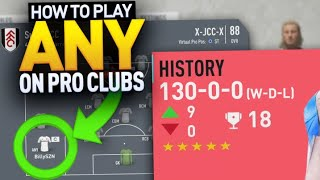 How to Play ANY on Pro Clubs... [TIPS / Tricks & BEST Build]