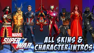 MARVEL Super War | All Character & Skins Showcase (Iron Man, Spider-Man, Deadpool & More)