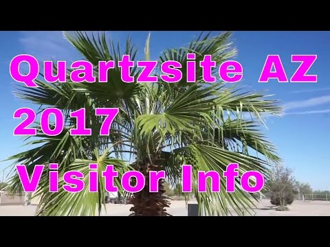 RV Travel...Quartzsite 2017 Visitor Guide...RV Parks...Gold Mining...RV Show...RVerTV