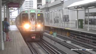 The Chicago L Train in Downtown Chicago