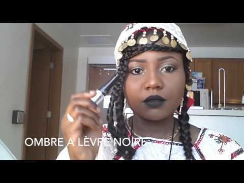 African Tribal Makeup (NIGER) -Traditional Clothing- Maquillage traditionel du NIGER