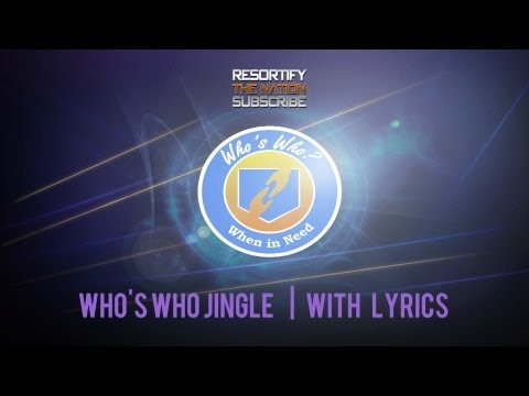 Who's Who Perk Jingle WITH On Screen Lyrics!