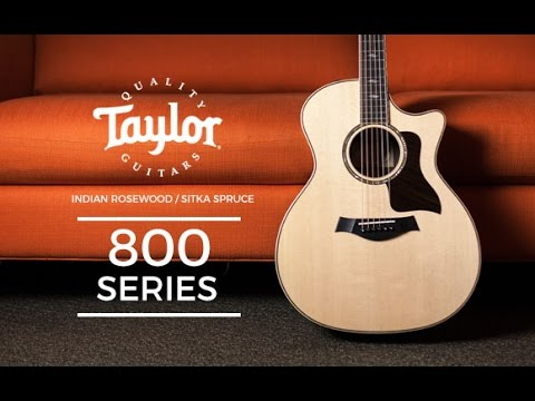 taylor 800 series acoustic guitars at the music zoo youtube. Black Bedroom Furniture Sets. Home Design Ideas
